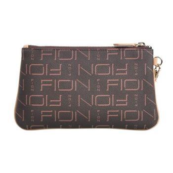 FION菲安妮 FPLLPBRNCML15SH01 印花手抓包欧美风迷你手包钱包