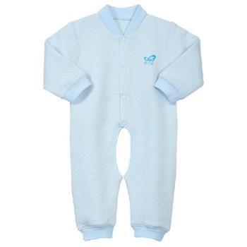 婴儿保暖连体衣服装宝宝连体衣秋冬季长袖开档连体衣爬服哈衣