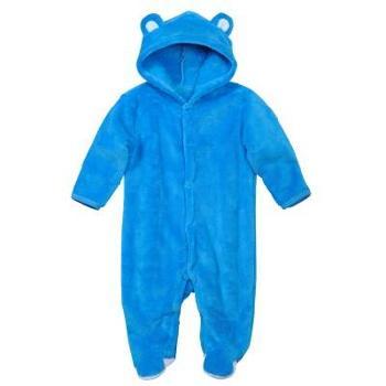 依尔婴婴儿连体衣秋冬季加绒加厚保暖内衣套装服装珊瑚绒保暖连体衣