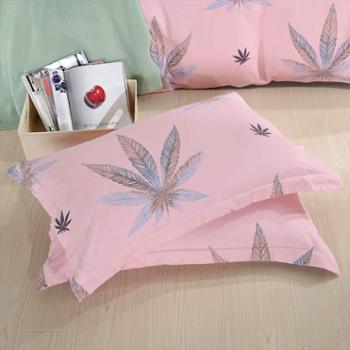 洁帛 温馨聚酯纤维印花枕套 聚酯纤维面料 印花枕套 一对装 包邮