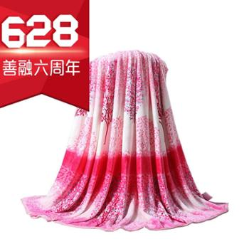 洁帛云貂绒盖毯1.0x1.4m