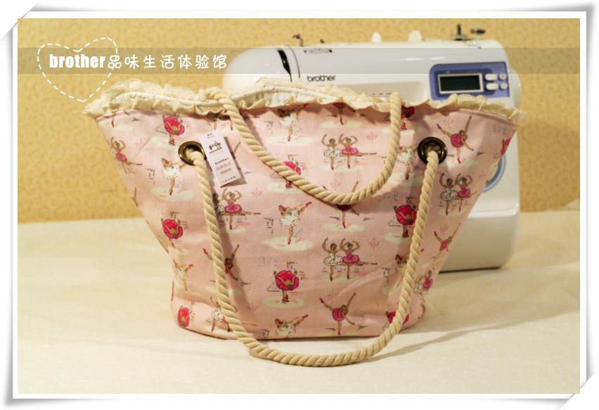 原创手工包包---可爱风粉色水手帆布包