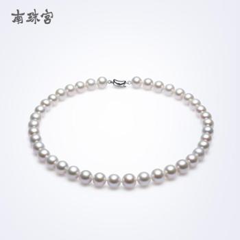 南珠宫福缘淡水珍珠项链近圆强光5.5-6.5mm