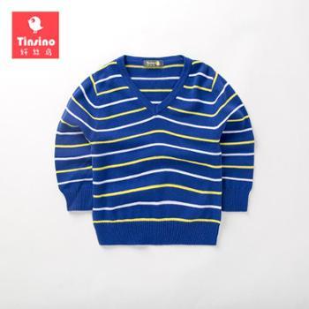 Tinsino/纤丝鸟冬装毛衣儿童针织衫V领THY0296001