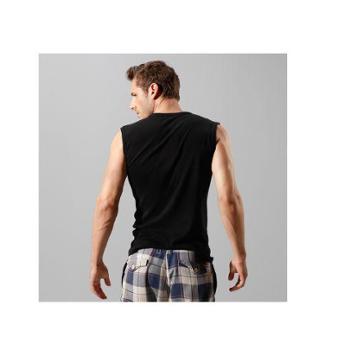 运动健身无袖宽肩背心 男夏季打底坎肩纯棉男士内衣背心