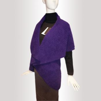 木伦河2013年秋冬新款女士纯色披肩式羊绒外套