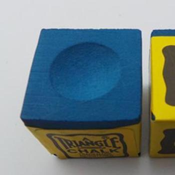 台球杆枪粉. 擦枪头粉枪粉巧粉三角牌巧克粉(2盒24粒)