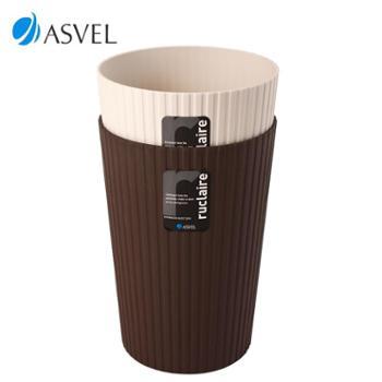 ASVEL 阿司倍鹭 日式时尚家用垃圾桶 6L