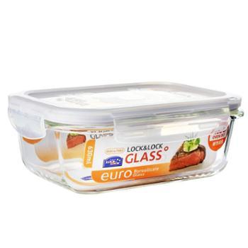 乐扣乐扣(LOCK&LOCK) 格拉斯耐热玻璃保鲜盒LLG428 630ML