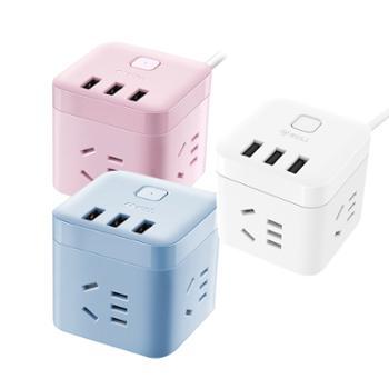 公牛(BULL) 智能USB魔方插座带线全长1.5米