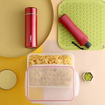 菲驰(VENES)创意礼品保温杯&保鲜盒&雨伞鸿运套装组合