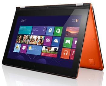 联想IdeaPad Yoga 13.3英寸超极本(i5-3317U 4G 128G固态硬盘 HD4000 摄像头 蓝牙 Win8)日光橙
