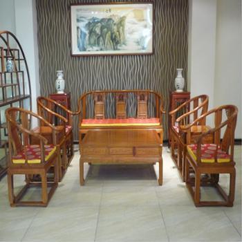 木头记 红木家具 缅甸花梨皇宫椅沙发十件套