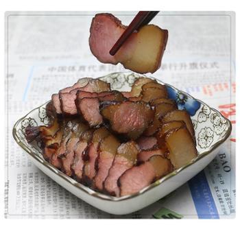 吊角楼 湘西后腿腊肉 土家百年传统工艺 柴火烟熏腊肉 500g/袋