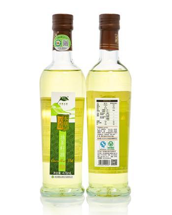 本草天香冷压榨478ML绿色有机山冷压榨油茶籽油