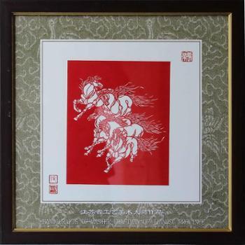 张方林大师剪纸 (马)