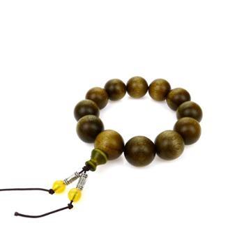 【工美】沉睡的记忆 金丝楠阴沉木 12颗 珠径2厘米