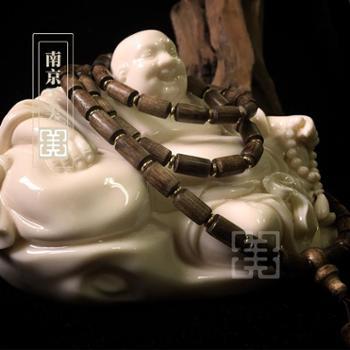 【工美】马来西亚沉香手串 男女佛珠手链桶珠 天然沉香木老料