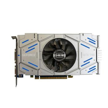 高端游戏显卡影驰GTX750骁将2G显存剑灵5档电脑非Ti黑将