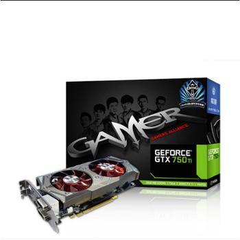 游戏显卡影驰(Galaxy) GTX750 Ti GAMER 2G D5 全新行货秒黑将大将