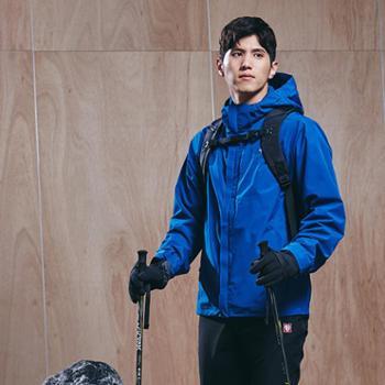 BLACKYAK布来亚克户外男士三合一夹克冬季冲锋衣两件套男FZM621