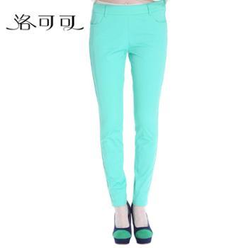【专柜】洛可可2013冬季新品纯棉简约休闲小脚铅笔裤女866414136