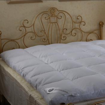 天然家居 白鸭绒舒适羽绒床垫双层加厚羽绒床褥子 特价正品 024
