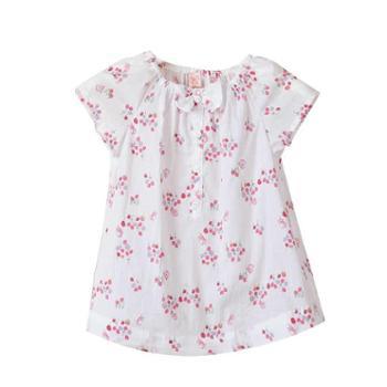 童装夏装女童衫韩版碎花日系甜美小中大童儿童纯棉短袖T限时特价