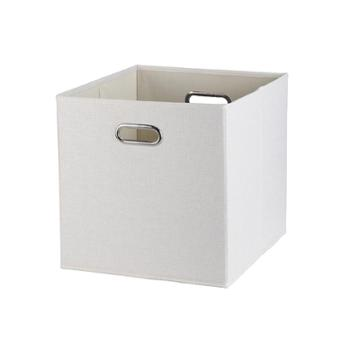 素色无盖收纳箱玩具衣服储物盒文件整理箱居家布艺收纳盒布艺皮质/多种选择