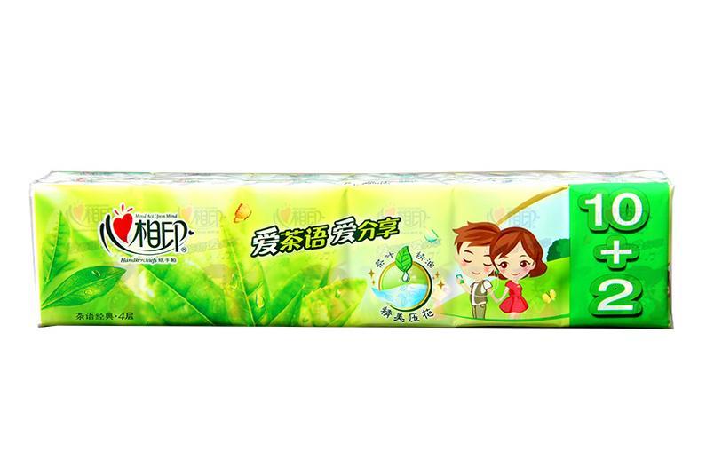 心相印手帕纸 茶语系列迷你面巾纸巾餐巾纸 四层 12包C1710图片