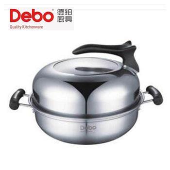 德铂/debo 比特堡不锈钢汤锅 电磁炉燃气通用 DEP-277 26cm