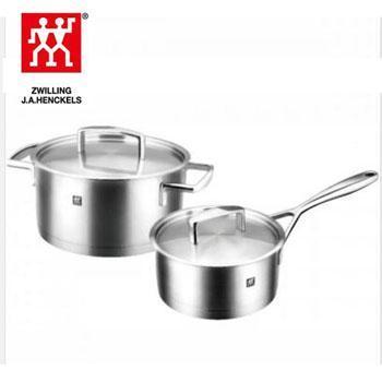 双立人/TWINIVIGL Passion 304不锈钢锅具两件套 炖锅 16cm 1.5L 深烧锅 20cm 3.5L ZW-C106
