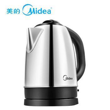 Midea/美的 304食品级不锈钢 1.7升自动断电电热水壶 MK-SJ1702