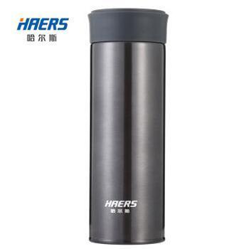 哈尔斯 350ml不锈钢真空保温杯办公杯车载直身杯泡茶水杯子HD-350-28 颜色随机发