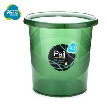 茶花0249*2透明加厚食品级塑料水桶宽边提手大号拖把桶/洗车桶11.6L2个装颜色随机