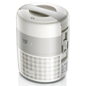 小熊 DFH-A20D1 微电脑三层不锈钢内胆电热饭盒 2升