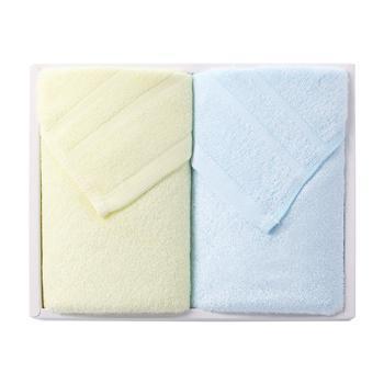 爱竹人 紫荆花抽屉软盒(条缎毛巾×2)34cm×74cm95g