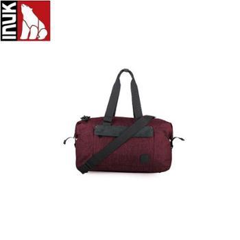 INUK MARK大容量短途旅行帆布手提包 绛红 IKB50517100025