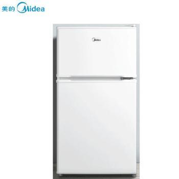 美的双门节能静音不占地迷你冰箱白色88LBCD-88CM