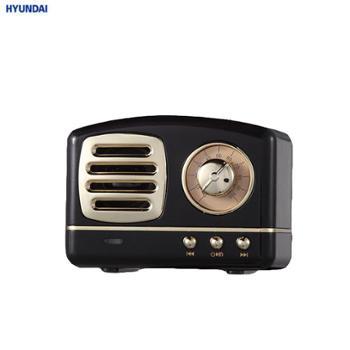 现代 M11 便携复古怀旧迷你音箱 黑色/粉色 M11