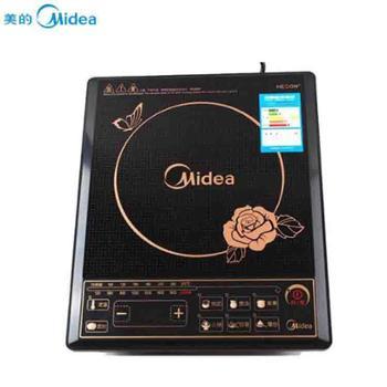 美的按键式黑晶面板八档火力电磁炉 HK2002
