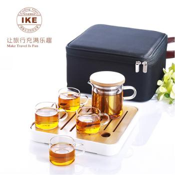 一柯 便携式旅行茶具套装彩盒 一壶带四杯 壶255ML 杯54ML YK-C608C