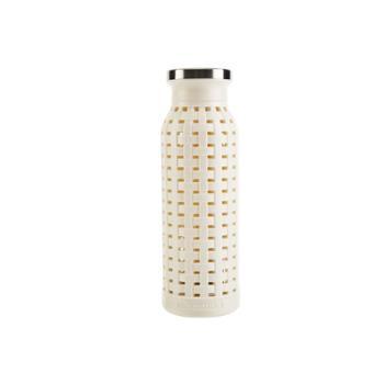 乐扣乐扣 直筒竹编织便携高硼耐冷热玻璃杯 350ml LLG698