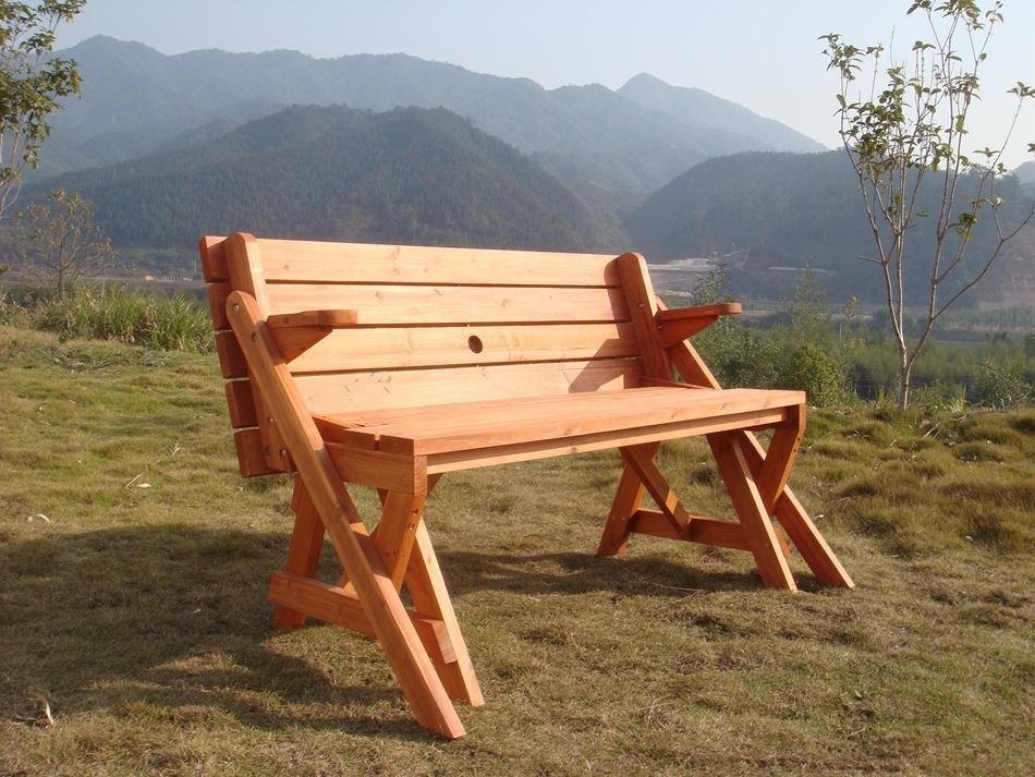 宝利华杉木制两用桌椅