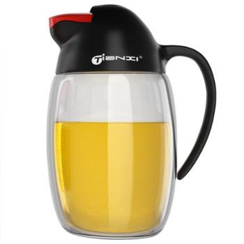 天喜玻璃油壶油瓶防漏油罐厨房家用酱油醋调味瓶620ml