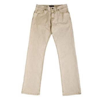 2014摩名帝凡斯新品高端全棉水洗长裤修身直筒男士休闲裤卡其色