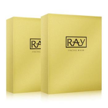 泰国正品RAY蚕丝面膜单盒金色保湿补水提亮收缩紧致缩小毛孔单盒