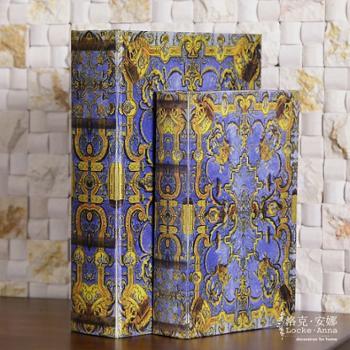 洛克安娜 欧式古典宫廷复古仿真书假书装饰书盒收纳盒摆件奢华 LA026102
