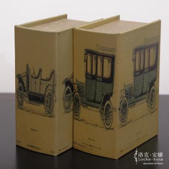 洛克安娜欧式美式复古汽车仿真书装饰书假书收纳盒书柜摆件单本LA026025-2