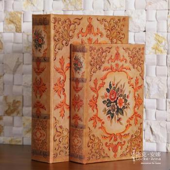 洛克安娜欧式古典复古仿真书装饰书假书盒收纳盒装饰品摆件套装LA026103
